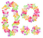 4 PIECE HAWAIIAN LEI SET FLOWER GARLAND BRACELETS HEADBAND HULA FANCY DRESS