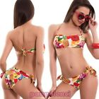 Bikini woman swimwear multicolour band fruit two pieces new SE88069