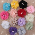 NEW DIY 5/10/50pcs Chiffon sew flowers big Appliques/craft/Wedding decoration