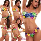 Bikini woman swimwear sea palme band FLOWERS two pieces new 80590