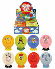 2 Funny Face Animal Balloon Heads Childrens Party Bag Fillers with stickers feet