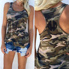 Sexy Women Summer Vest Top Sleeveless Shirt Camouflage Tank Top T-Shirts Unique