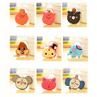 2PCS Cuddly Animal Pattern Key Top Head Cover Chain Cap Keyring Party Favor Gift