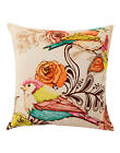 Indian Pillow Case Bird Digital Print Home Décor Throw Cotton Cushion Cover 16""