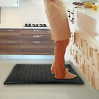 "Indoor Memory Cushion 30""x18"" Kitchen Rug Anti-Fatigue Floor Mat Brown or Black"