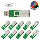 Lot10 Green Rotating Memory Stick 1GB 16GB USB 20 Flash Drive Folding Thumb Pen