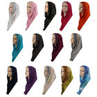 Islamic  Muslim Long Shawl Hijab Islamic  Bonnet Caps Ninja Headcover Underscarf