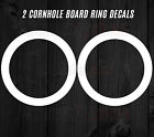 """TWO 1"""" Cornhole Board Decals Bean Bag Toss Ring Hole Game Sticker Set 20 COLORS"""
