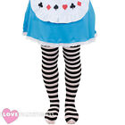 CHILD BLACK AND WHITE STRIPED TIGHTS SCHOOL BOOK WEEK FANCY DRESS ACCESSORY