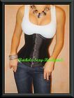 Black Corset Waist Cincher Lace up Back Top Underbust FROM NEW YORK S-2XL