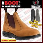 Redback Work Boots USBBA Steel Toe Cap Safety. Elastic Sided Bobcat Suede Finish