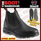 Redback UBBK Non Safety Work Boots. Elastic Sided Bobcat. Oiled-Kip Black!