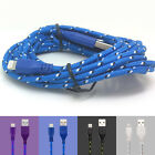 1/2/3M Braided Lightning Sync Data Cable USB Charger fr iphone 5 5c SE 6 6S Plus