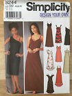 Simplicity 5244 : FORMAL Dress with skirt variations PAPER PATTERN size 4-10