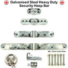 GALVANIZED Garage Shed Door High Security Hasp Lock WITHOUT Padlock - 4 sizes
