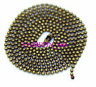 Hot-bronze Selling in!! 10/50/100pcs Ball Metal 1.5mm Beads Chains Necklace Diy