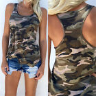 Women Summer Camouflage Vest Sleeveless Shirt Blouse Casual Tank Tops T-Shirt K