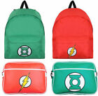 DC Comics Rucksack Backpack / Satchel Bag Green Lantern/The Flash - New Official