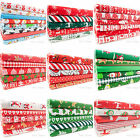 Christmas Fabric Fat Quarters Bundle Remnants Bunting Xmas Green Red White