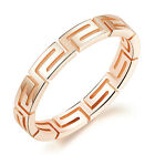 Unique design Stainless Steel Rose Gold Ring Women Charming Gifts Jewery 5-8#