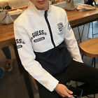 New Men's Slim Collar Jackets Fashion Jacket Tops Casual Coat Outerwear