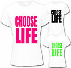 RETRO 80`s CHOOSE LIFE LADIE`S T-SHIRT,FANCY DRESS S-XXL