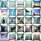 18  Inch Creative Abstract Painting Pillow Case Linen  Pillow Covers