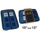 Dr Who Doctor Who Tardis Zip Up Laptop Bag/Case New & Official BBC - 2 Sizes