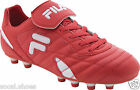 FILA FORZA III MD SCARLET Red WHITE SOCCER SHOES New