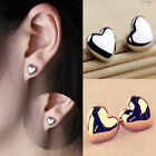 Women Heart Silver/Rose Gold Plated Fashion Lady Ear Stud Wedding Earrings