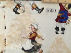CHRISTMAS FABRICS : Vintage characters  100% cotton :  sold by the 1/2 metre