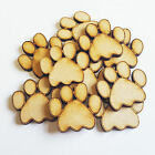 Wooden Dog Paws Animal Bear Cat Craft Blank Card  Decor Art MDF Gift <br/> BUY 3 GET 1 FREE!! Sizes Available 20mm to 60mm