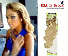 Malaysian 4 Bundles Body Wave Remy Blended Human Hair Weft with free closure