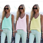 Fashion Women Summer Sleeveless Shirt Blouse Casual Tank Tops T-Shirt Vest TopLA