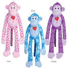 Dog Toy Groovy Gorilla Dog Toy Squeaker Plush Squeaky Toys Pink Purple Blue