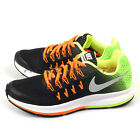 Nike Zoom Pegasus 33 (GS) Black/Metallic Silver-Volt-Orange Running 834316-004