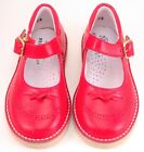 DE OSU A-1244 - Girls' Red Leather European Dress/Casual Shoes - Size 5-10