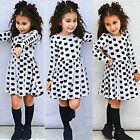 Toddler Girl Kids Autumn Clothes Long Sleeve Party Cat Print Princess Tutu Dress