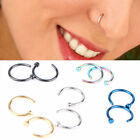 Small Thin Surgical Steel Open Nose Hoop Ring Piercing Stud Body Jewellery EW