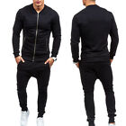 Mens Casual Tracksuit Running Sports Wear Jacket Top & Training Pants Bottoms