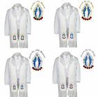 6pc Baptism White Tuxedo Paisley English Spanish Colored Silver Gold Maria Stole