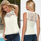 Women Ladies Sexy Lace Vest Top Sleeveless Blouse Tank Tops T-Shirts Casual