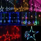3M Curtain 12 Star 138 LED Outdoor String Lights Wedding Party Perfect Christmas