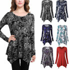 Womens Lady Fashion Top Tie T-Shirt Long Sleeve Flared Skirt Loose Fit Tunic Top