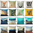 18'' Beautiful sightseeing Cotton Linen Pillow Case Cushion Cover Home Decor