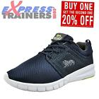 Lonsdale Sivas Mens Running Shoes Fitness Gym Workout Casual Trainers Navy