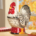 Hand Painted Rooster Cookie Jar Canister Country Kitchen Counter Decor Accent