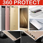 Shockproof 360° Front and Back Full Body TPU Silicon Case Cover For Huawei Phone