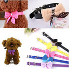 Bowknot Adjustable PU Leather Dog Puppy Pet Cat Collars Necklace Neck Lace US