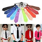 1 X Satin Elastic Neck Tie for Wedding Prom Boys Children School Kids Ties EW